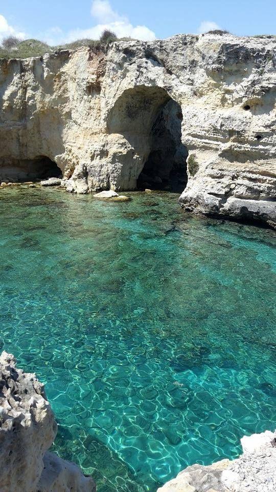 La grotta verso Torre Sant'Andrea #nelsalento
