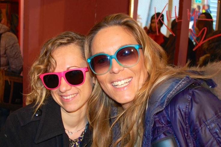 Kill Me Please - @Kristine Spiller e @Lucia Zanetti provado gli occhiali di @Happiness - Pitti Uomo 2013 #SpeadHappiness