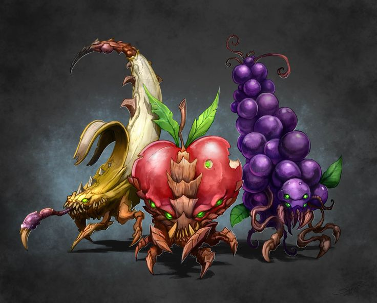 Starcraft 2 Zerg + Fruits: Artists Food, File Fruit Dealer Full Jpg, Animal Art, Concept Art, Starcraft Artworks, Starcraft Ii, Fans Art, Fruit Animal, Fans Wallpapers