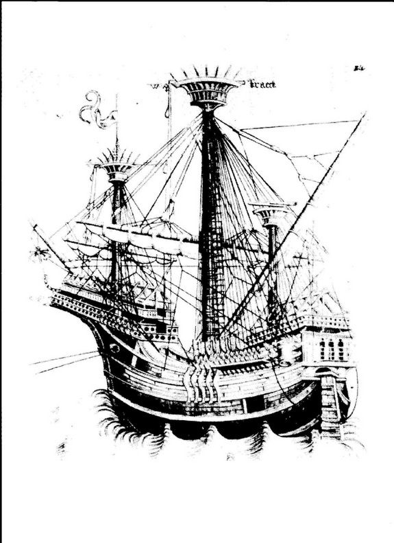 """a ship with a dog or monster face on the prow Gribshunden, or """"Grip Dog,"""" sank in 1495"""