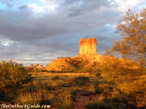 The Australian Outback ... Chambers Pillar south east of Alice Springs
