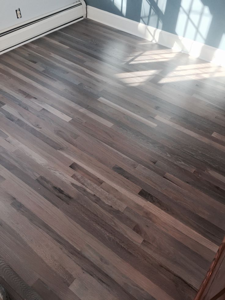 Refinished red oak flooring with Rubio Fumed and Rubio 5% white floor oil