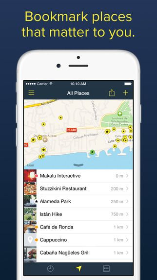 Rego - Bookmark your favorite places makaluMedia Inc. 제작 즐겨찾는 장소 를 북마크 할수 있는 어플 좋음. 장소 기록 저장