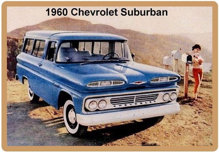 1960 Chevrolet Suburban Refrigerator / Tool Box Magnet Man Cave