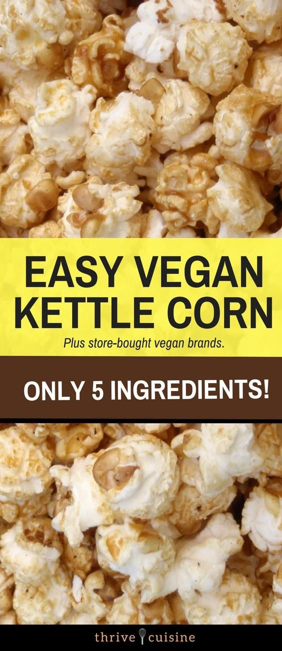 Easy Homemade Kettle Corn Recipe | DIY Microwave or Stove Top Popcorn | 100% Vegan and Gluten-Free #popcorn #kettlecorn #vegansnacks #glutenfreesnacks via @ThriveCuisine