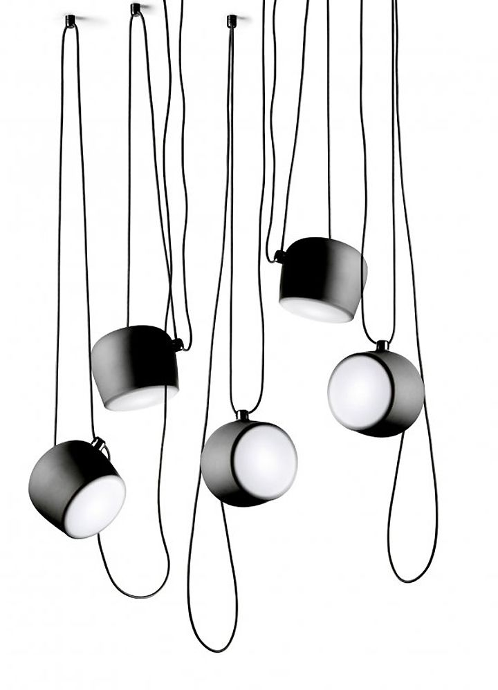 Aim Lamp ­by Ronan & Erwan Bouroullec  The general idea behind the Aim design is to propose a lamp that would offer an infinite variety of adjustments to meet one's lighting needs.