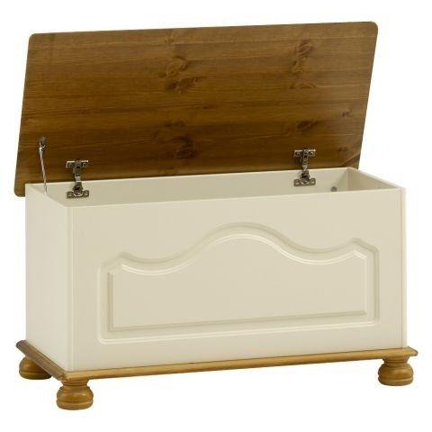Steens Richmond Cream & Pine Ottoman / Blanket Box / Storage Chest - Steens - By Collection