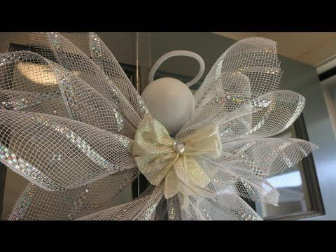 Deco Mesh Angel - YouTube                                                                                                                                                     More