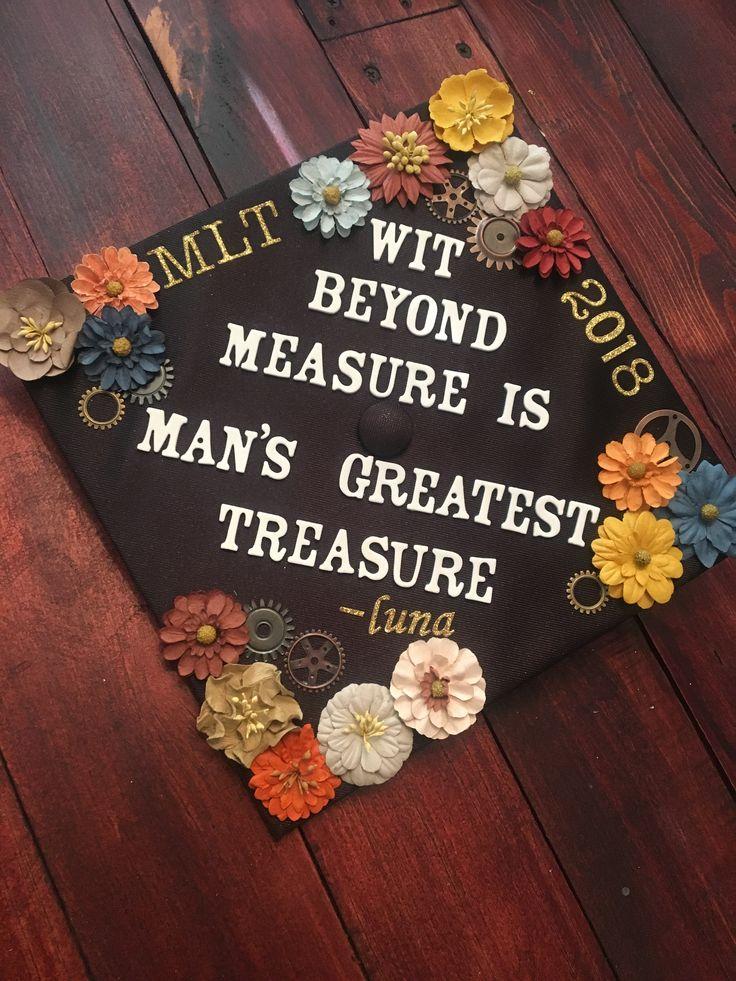 Graduation cap, Luna lovegood quote, Harry Potter