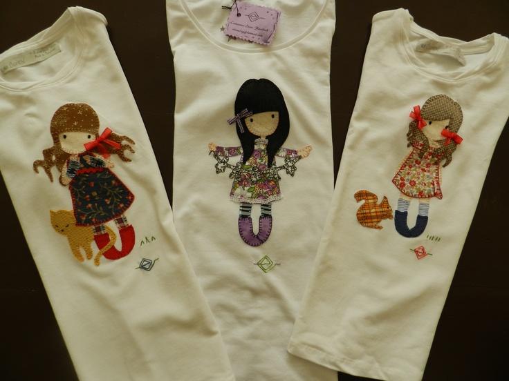Gorjuss patchwork. Camisetas elena