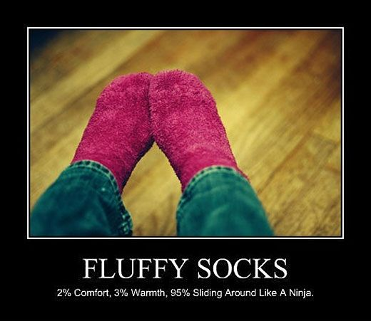 Why I love fluffy socks.