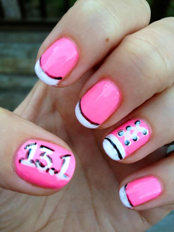 28 best Runners nails images on Pinterest | Disney nails, Half ...