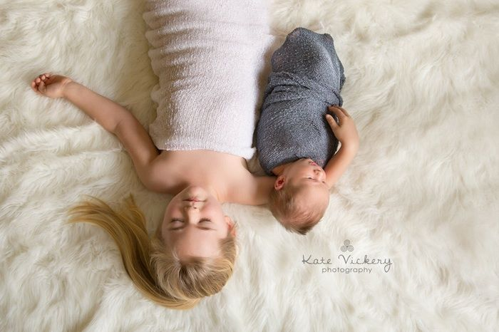 Family Photography, beautiful girl, sleeping children, newborn and sibling, brother and sister, sibling, baby boy, big sister