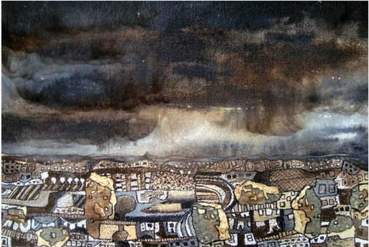 CHATHURIKA JAYANI -  CITY & NIGHT III,  2012, Mixed media on handmade paper, 43 x 61cm