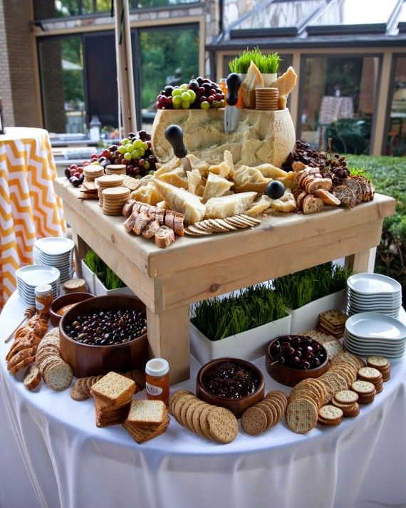 FCI Catering & Events makes sure their cheese bars include aged cheese…