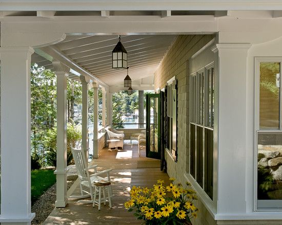 Open back porch design pictures remodel decor and ideas for Traditional porch