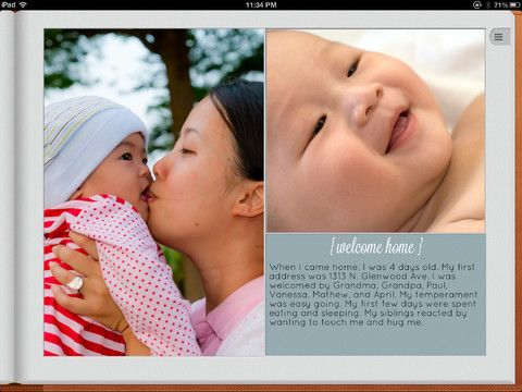 New Baby Book iPad app that makes it so much easier to record those milestones than an actual book.