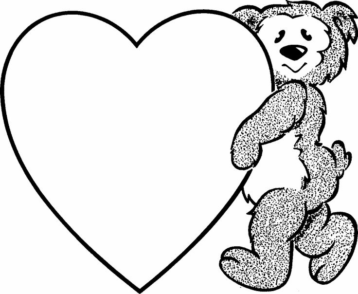 the 8 best images about heart coloring on pinterest - Heart Coloring Pages Print
