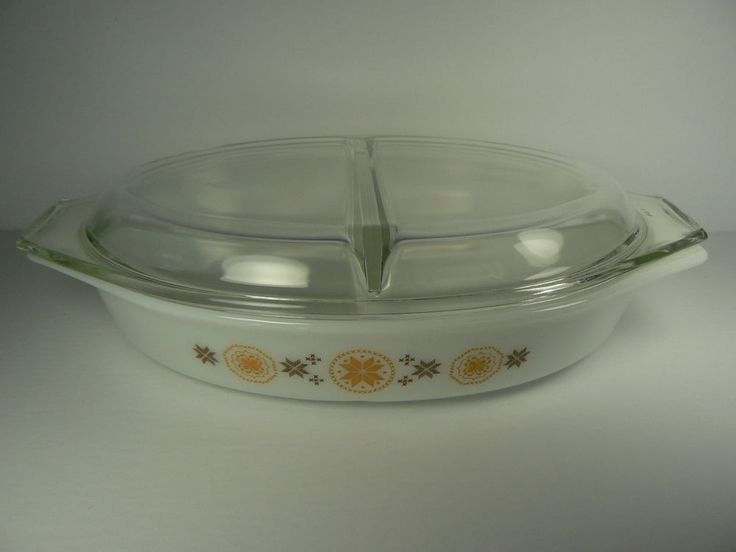 PYREX TOWN AND COUNTRY 1.5 QT DIVIDED CASSEROLE BAKING DISH VINTAGE 1963-1967 | eBay