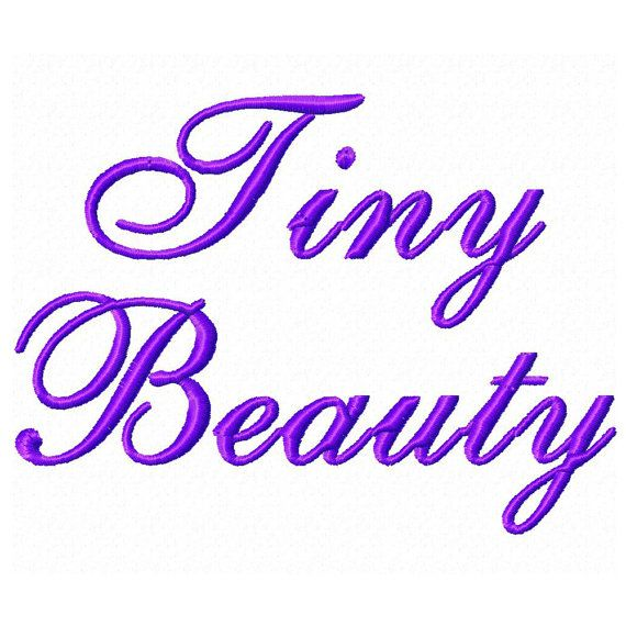 tiny machine embroidery fonts