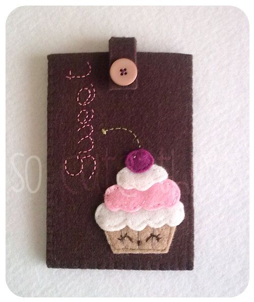 Sweet Cupcake felt phone case