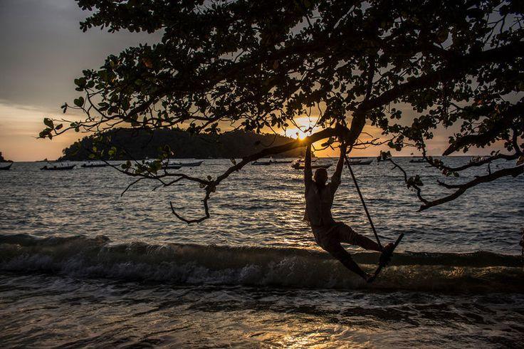 Ryan of Go Squab overlooks Pulau Giam from Pangkor Island #malaysia #sunset #travel #gosquab