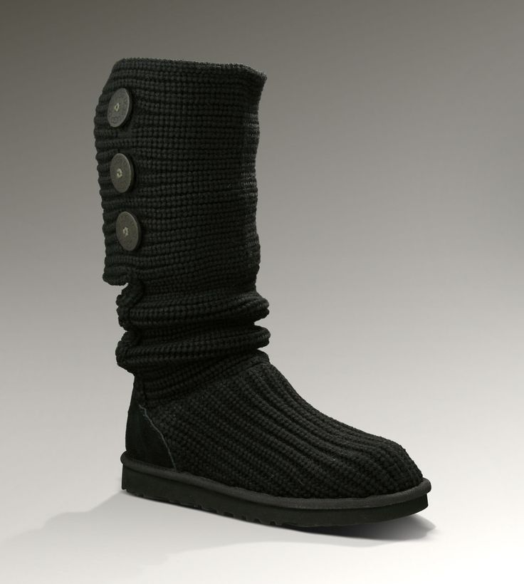 Ugg Womens Classic Cardy Black - UGGs Outlet With Elegant Design, Free Shipping, Free Tax, Door to door delivery