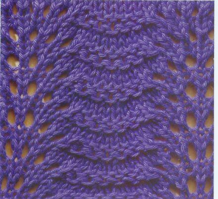 Das einfach nachzustrickende Wellen-Lochmuster 04 (inkl. Strickschrift) ist in Funny`s Strickmustersammlung zu finden.