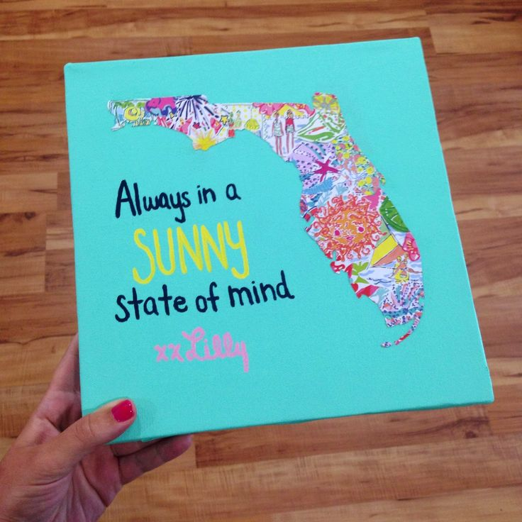 Sunshine State Sweetie: Lilly State Canvas DIY