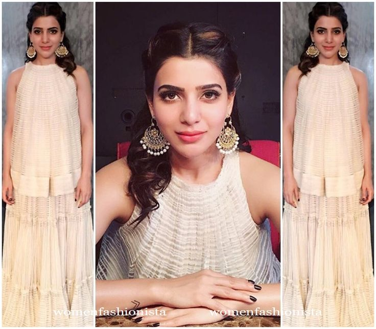 Samantha in long skirt and matching sleeveless top
