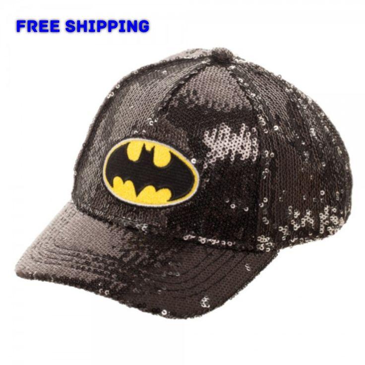 DC Comics Girls (4-6T) Batman Sequin Adjustable Hat YOUTH/TODDLER Classic Logo NEW