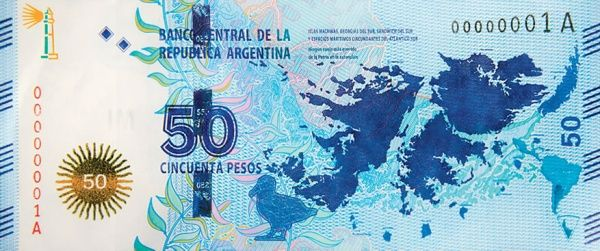 Matawang Argentina ( 50 Pesos ).                    Nama Mata Wang:    Argentine peso.      Kod ISO 4217:    ARS.      Simbol:    $      N...