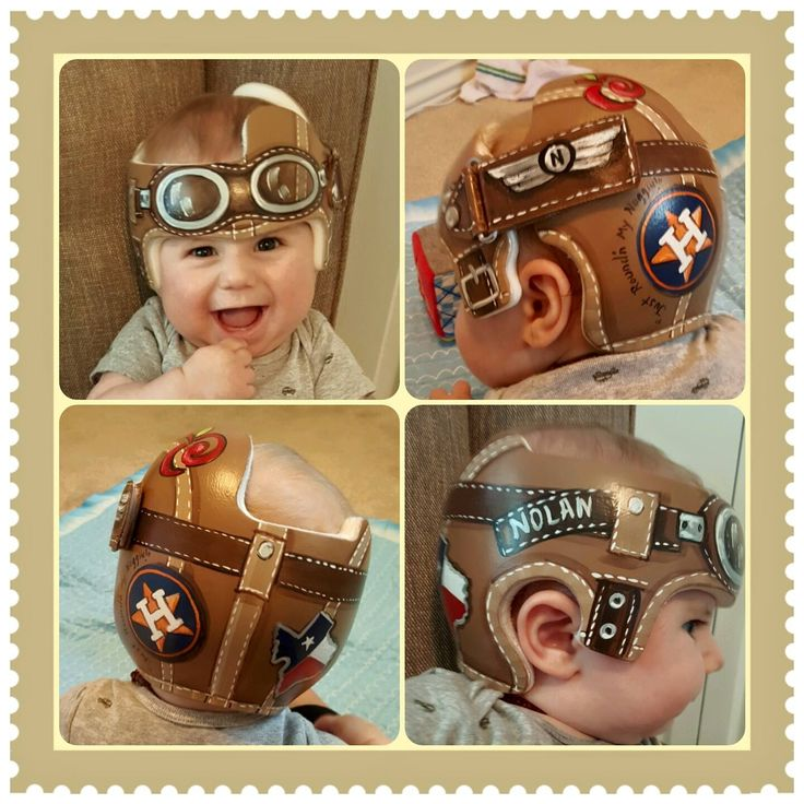 Nolan's Aviator Band DOC band/helmet  https://www.facebook.com/pages/Cranial-BandsMurals-by-Leigh-Gibson/153150921414230