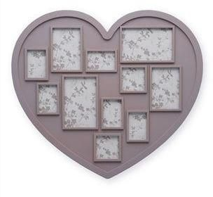Mauve Heart Collage Frame