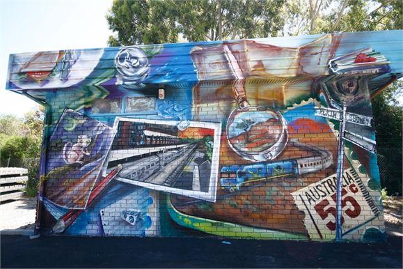 Drew Straker, Dave Garland Mural