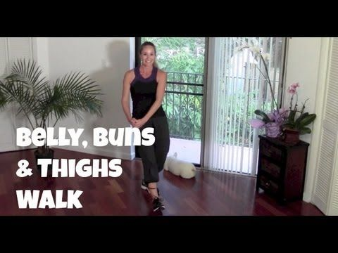 Belly, Buns & Thighs Walk - Full 40-Minute Indoor Walking Home Workout - YouTube