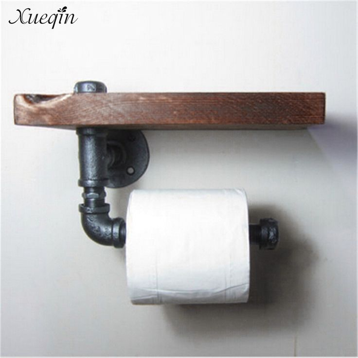 Cheap iron toilet paper holder, Buy Quality toilet paper holder directly from China paper holder Suppliers: Xueqin Free Shipping High Quality Retro Iron Toilet Paper Holder Bathroom Hotel Roll Paper Tissue Hanging Rack Wooden Shelf