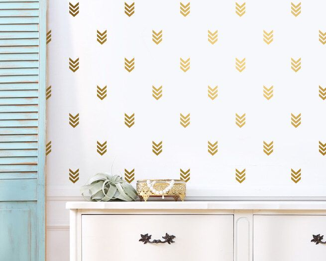 Arrow Wall Decals - Gold Tribal Geometric Decals - Unique Vinyl Decals, Modern Wall Decals, Tribal Decor for Gifts and More! by KennaSatoDesigns on Etsy https://www.etsy.com/listing/292941807/arrow-wall-decals-gold-tribal-geometric