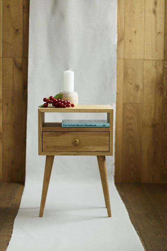 Kleine Sidetable Met Lade.Bedside Table With Drawer Mid Century Modern Furniture