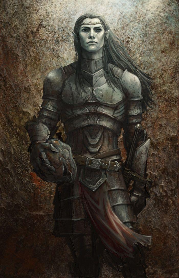 Warrior Elf getting ready for battle