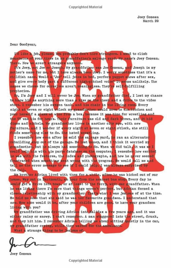 Overqualified by Joey Comeau A collection of ridiculous cover letters.