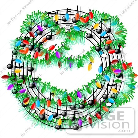 13 best clipart images on pinterest music instruments royalty free holiday vector clip art of a christmas music symbols decorated with lights in a wreath shape voltagebd Images