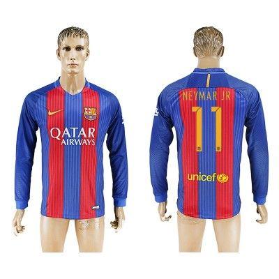 Barcelona 16-17 Neymar Jr 11 Hjemmebanetrøje Langærmet.  http://www.fodboldsports.com/barcelona-16-17-neymar-jr-11-hjemmebanetroje-langermet.  #fodboldtrøjer