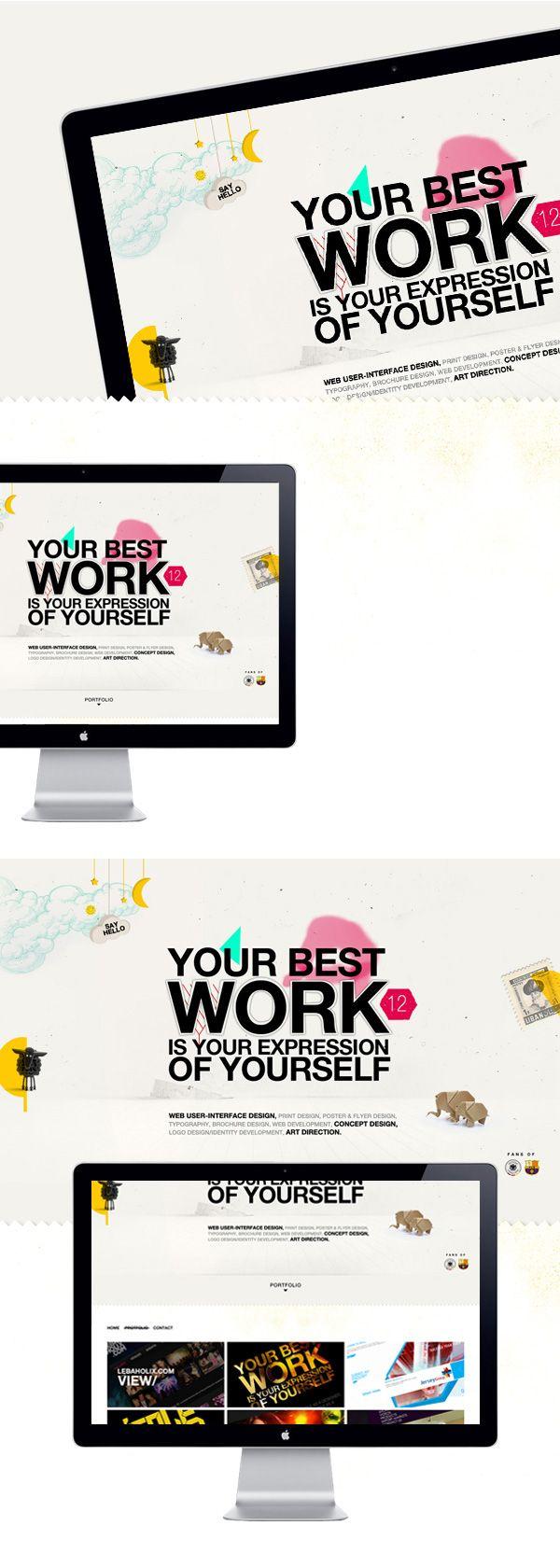 Personal Website on Behance