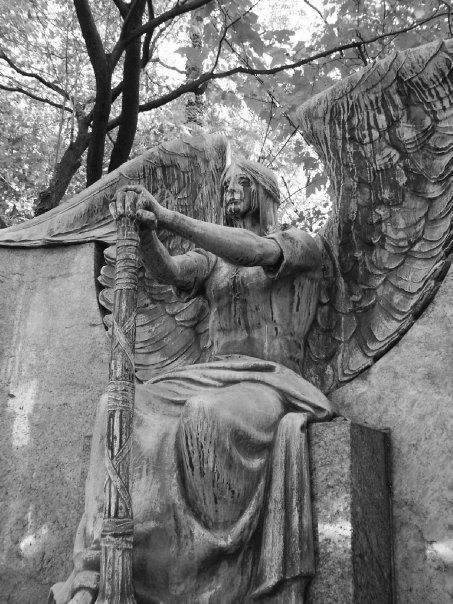 The Haserot Angel, probably the coolest gravestone ever.  Lakeview Cemetery Cleveland Ohio