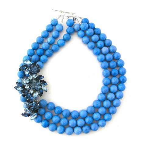 Once in a Blue Moon: Blue Necklaces, Blue Bubbles, Blue Beads, Elva Fields, Fields Jewelry, Blue Moon, Blue Dreams, Ocean Sprays, Chunky Necklaces