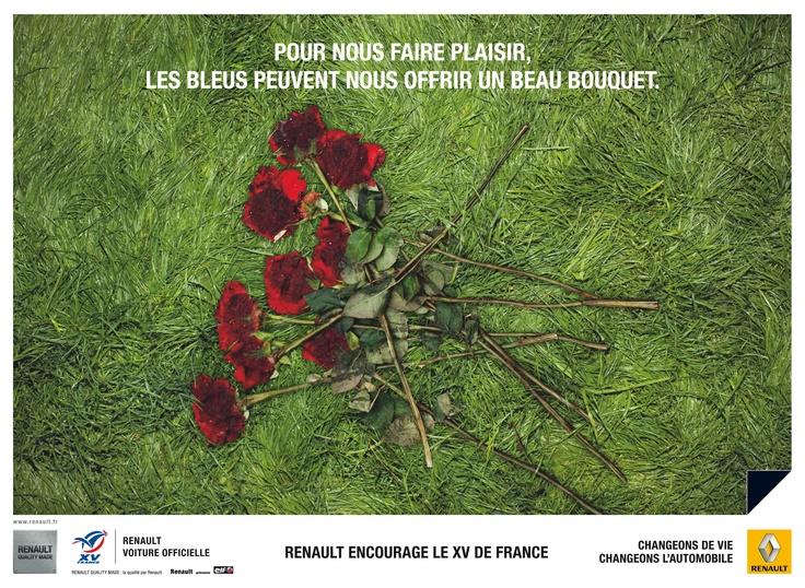 RENAULT Encourage le XV de France