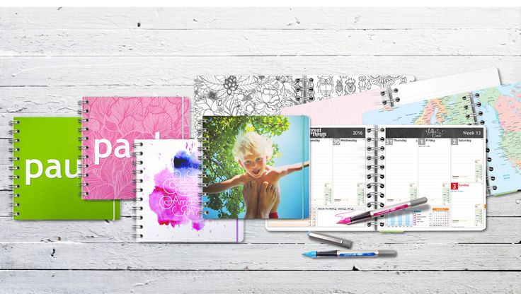 Planner 2016 - Create your own planner at personal-planner.com Check this out followers! It's a super nice website where you can personalise your own planner, notebook, wall calendar. You can pick the size, you can even choose the elastic color!!! It's amazing and it's free shipping!!!