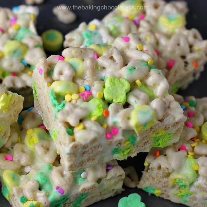 Lucky Charm Marshmallow Rice Krispies – The Baking ChocolaTess