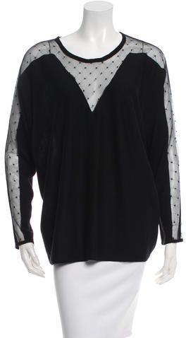 Maje Silk Crew Neck Sweater w/ Tags